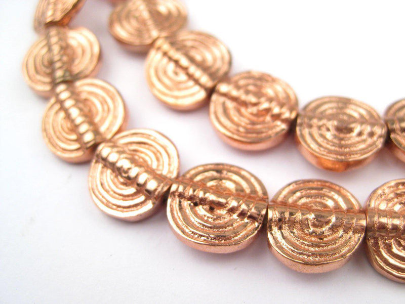 Baule- Style Circular Copper Beads - The Bead Chest