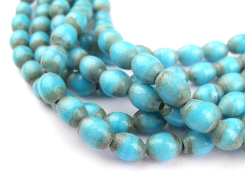 Blue Turquoise Naga Bead Necklace - The Bead Chest