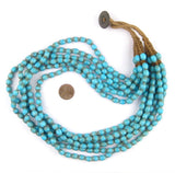 Blue Turquoise Naga Bead Necklace