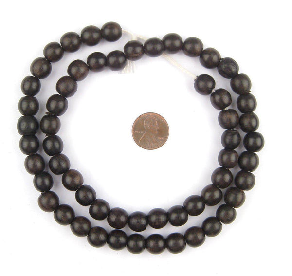 Sable Black Wood Beads (Round)