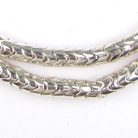 Silver Interlocking Snake Beads (7mm) - The Bead Chest