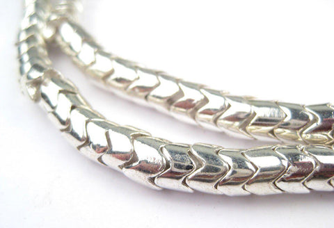 Silver Interlocking Snake Beads (6mm) - The Bead Chest