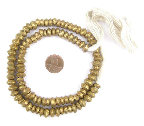 Brass Wollo Ring Beads (9mm) (100 Rings) - The Bead Chest