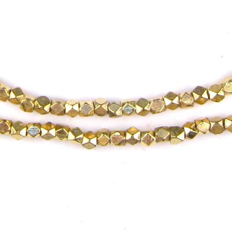 Image of Diamond Cut Faceted Gold Color Beads (3mm) - The Bead Chest