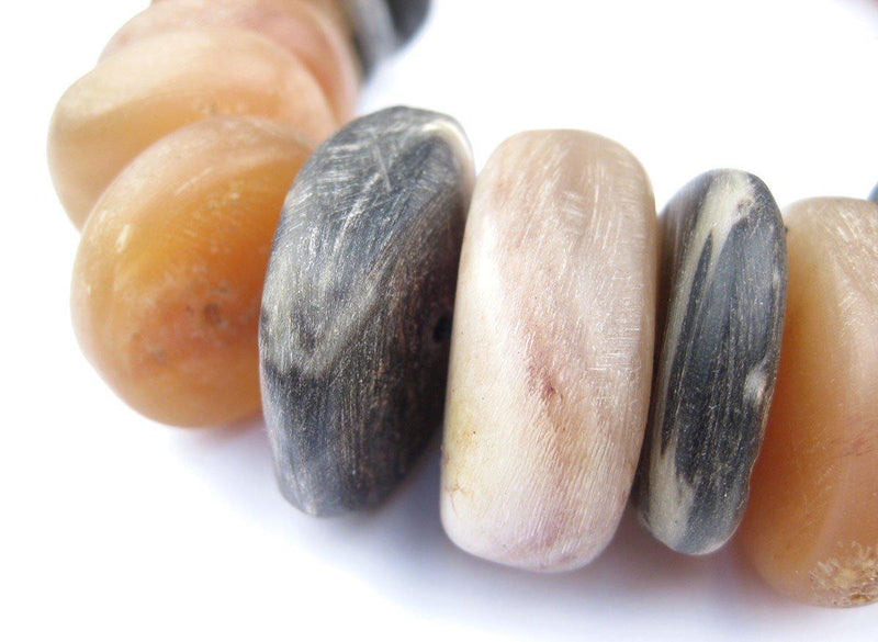 Natural Color Moroccan Horn Beads - The Bead Chest