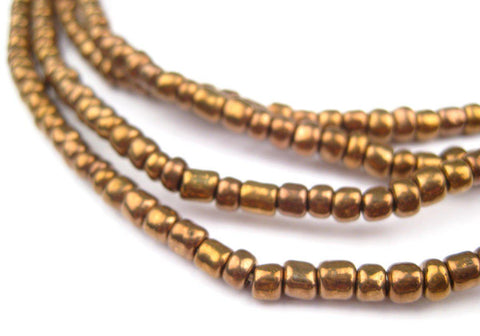 Image of Bronze Color Ghana Glass Beads (2 Strands) - The Bead Chest