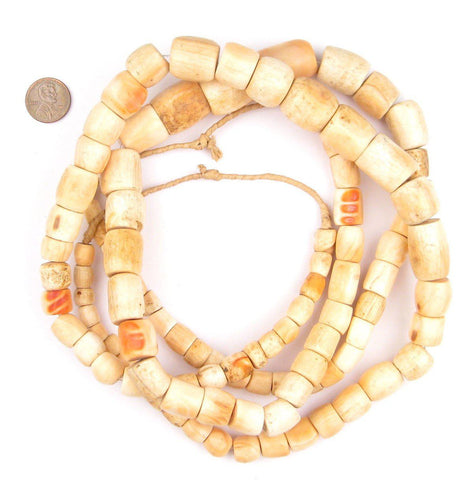 Old Nigerian Pink Coral Beads - The Bead Chest