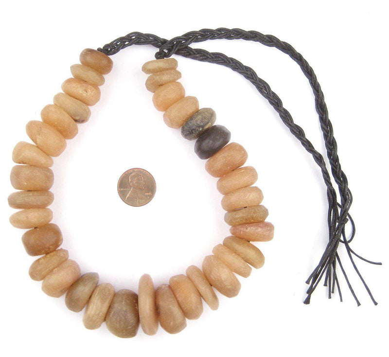 Grey Moroccan Horn Beads - The Bead Chest
