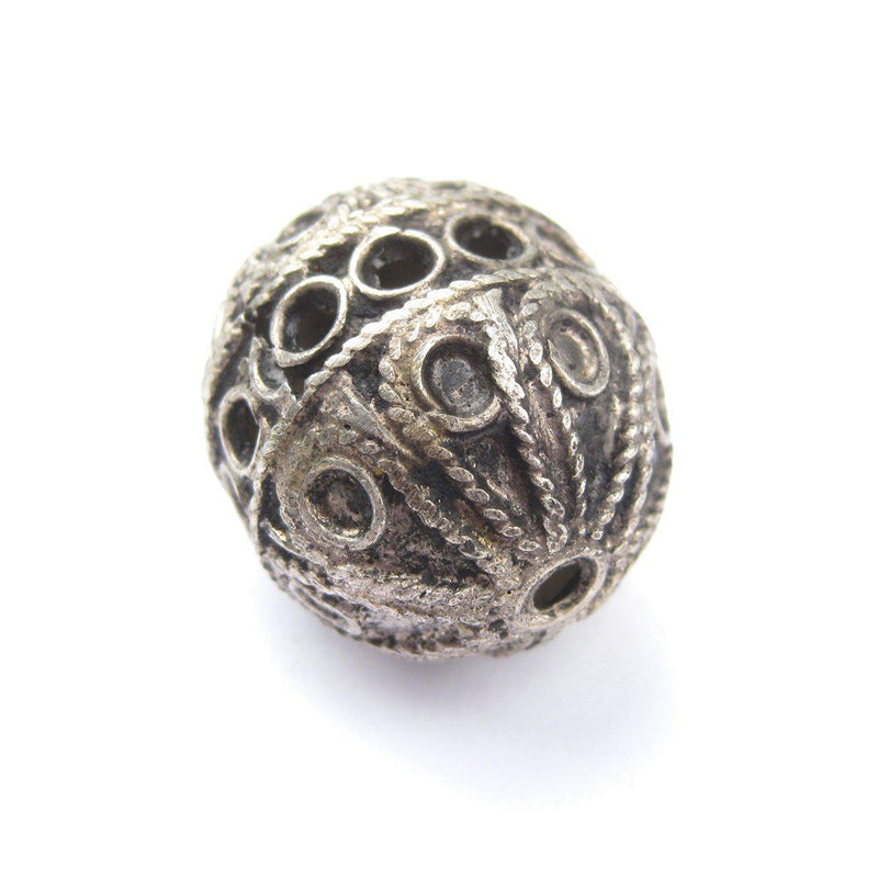 Artisanal Fancy Silver Berber Bead (32x29mm) - The Bead Chest