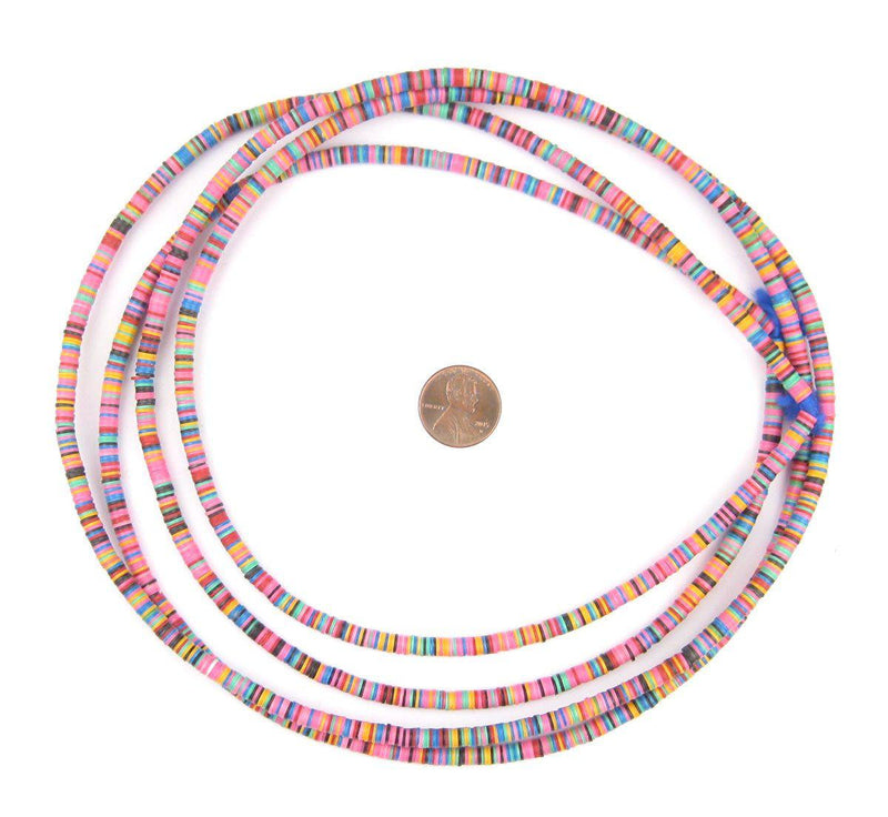 Multicolor Medley Vinyl Phono Record Beads (4mm) - The Bead Chest