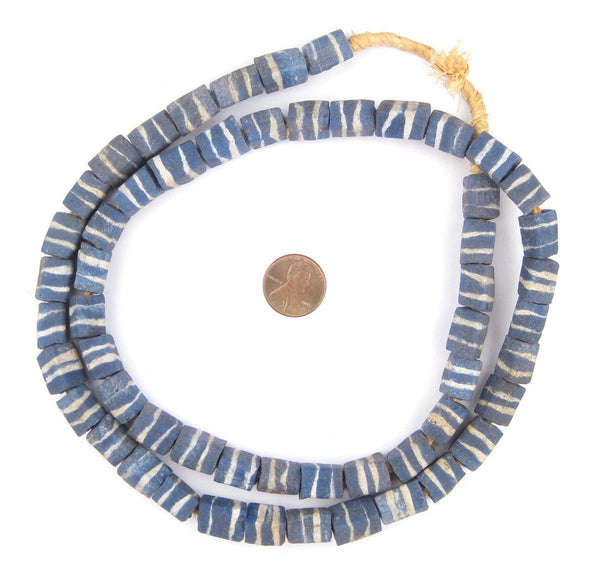 Rectangular Wedding Cake Blue Krobo Beads