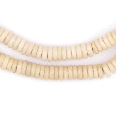 Ivory White Prosser Button Beads (7mm) - The Bead Chest