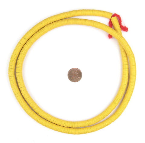 Yellow Vinyl Phono Record Beads (8mm) - The Bead Chest