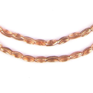 Copper Patterned Rice Beads (6x3mm) - The Bead Chest