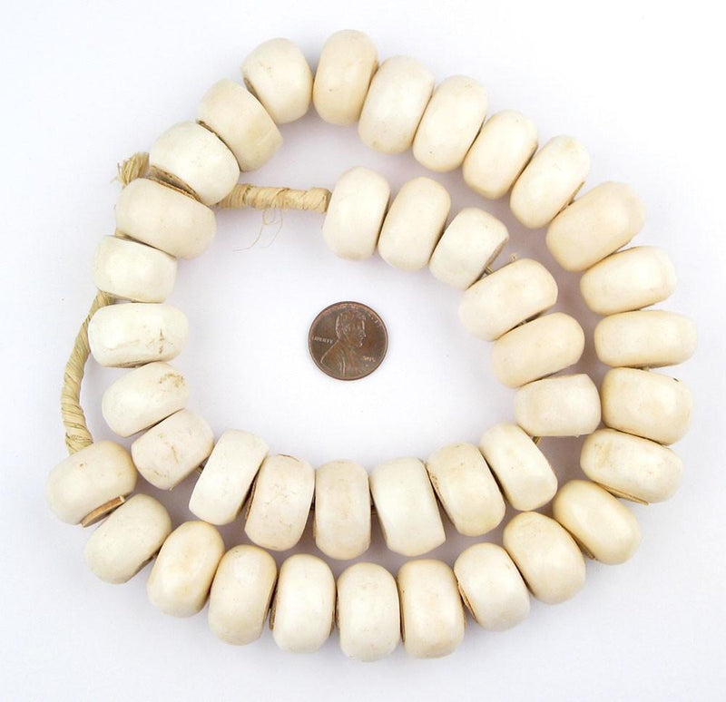 White Bone Beads (Large) - The Bead Chest