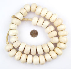 White Bone Beads (Large)