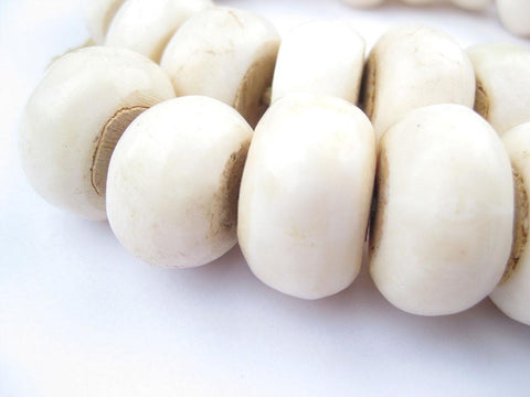 Image of White Bone Beads (Large) - The Bead Chest