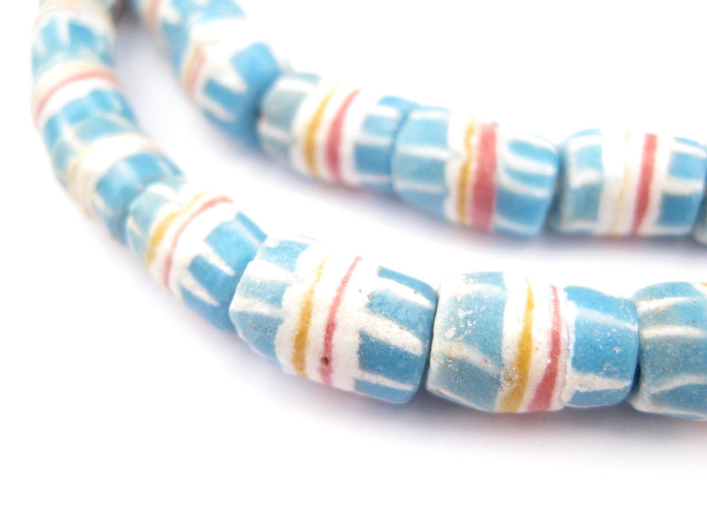 Sky Blue Strawstack Beads - The Bead Chest
