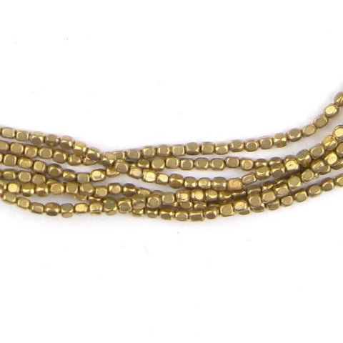 Brass Rounded Rectangle Beads (2x1.7mm) - The Bead Chest