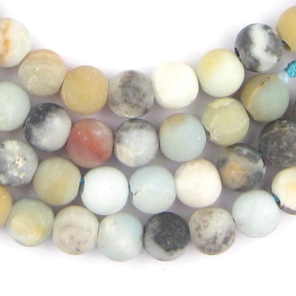 Spherical Amazonite Stone Beads (8mm) (Large Hole) - The Bead Chest