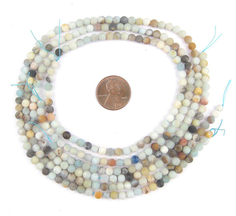 Spherical Amazonite Stone Beads (4mm) - The Bead Chest