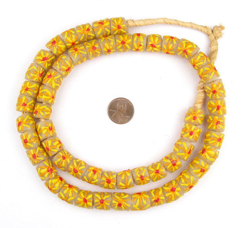 Summer Sunshine Krobo Powder Glass Beads - The Bead Chest