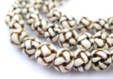 Premium Woven Carved Bone Prayer Beads (10mm)