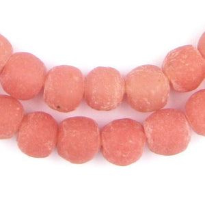 Opaque Pink Recycled Glass Beads (11mm) - The Bead Chest