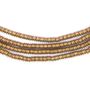 Antiqued Brass Double Heishi Beads (3mm) - The Bead Chest