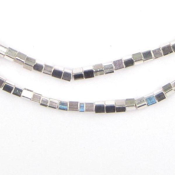 Shiny Silver Cube Beads (3mm) - The Bead Chest