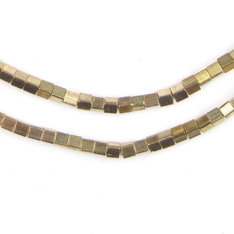 Gold Cube Beads (3mm) - The Bead Chest