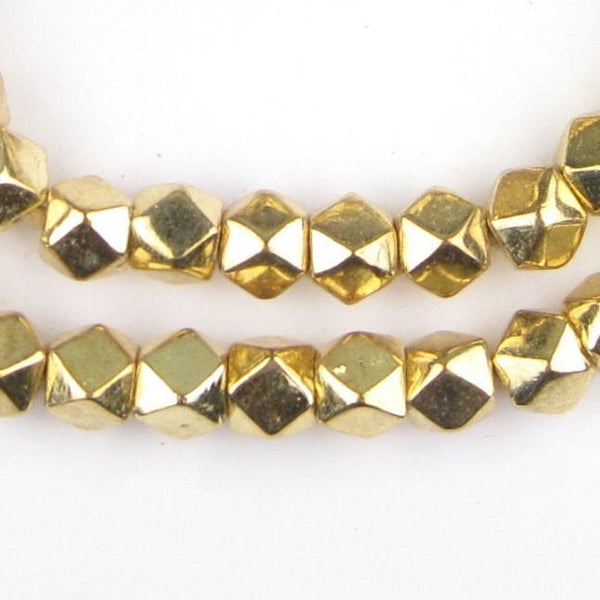 Jumbo Gold Diamond Cut Beads (9mm) - The Bead Chest