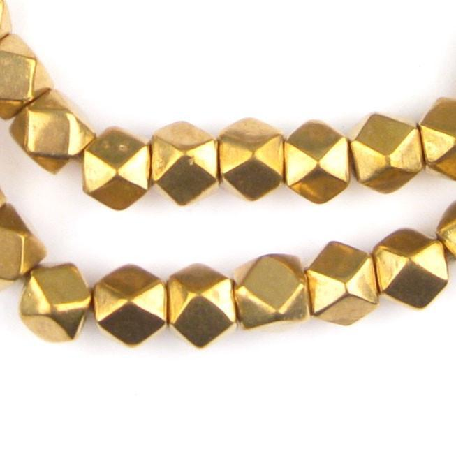 Jumbo Brass Diamond Cut Beads (9mm) - The Bead Chest