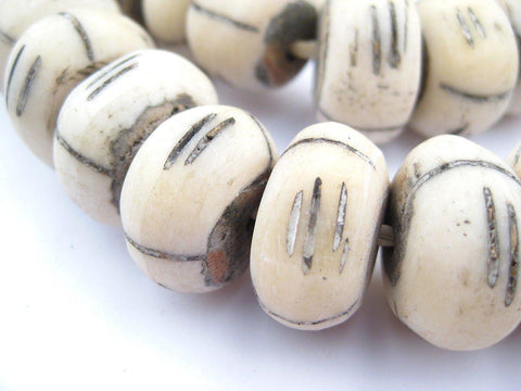 Tribal Carved Bone Beads (Large) - The Bead Chest