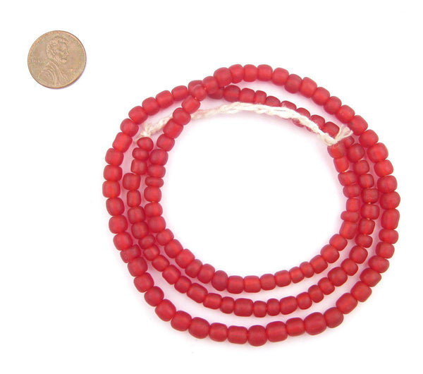 Red Java Glass Beads