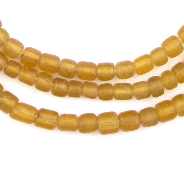 Amber Java Glass Beads - The Bead Chest