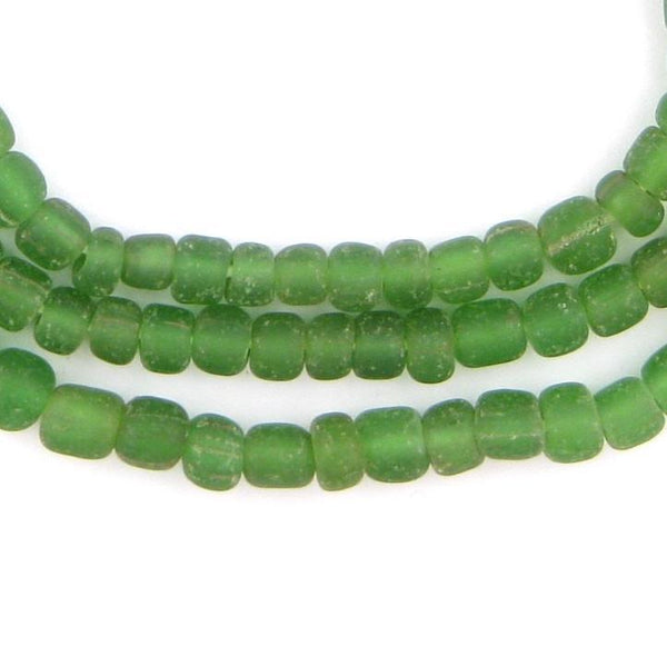 Green Java Glass Beads - The Bead Chest