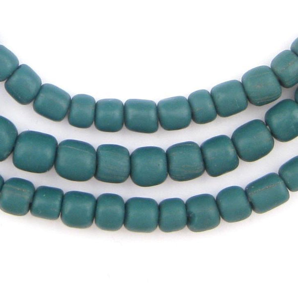 Teal Java Glass Beads - The Bead Chest
