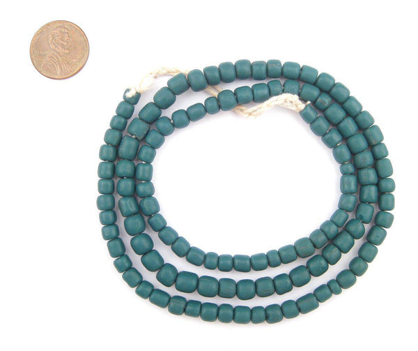 Teal Java Glass Beads