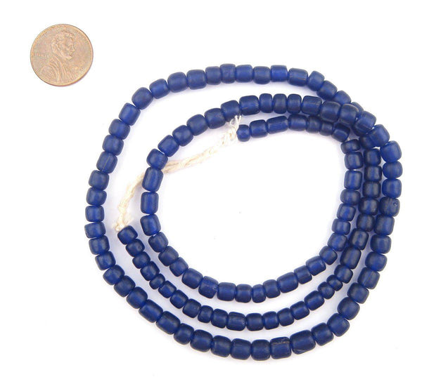 Cobalt Blue Java Glass Beads
