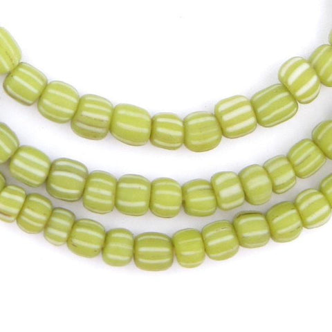 Lime Green Java Gooseberry Beads - The Bead Chest