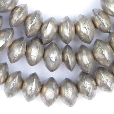 Mali Silver Bicone Beads (8x14mm) - The Bead Chest