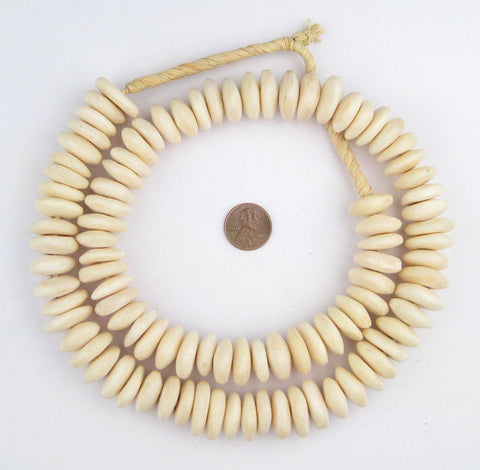 White Bone Beads (Disk) - The Bead Chest