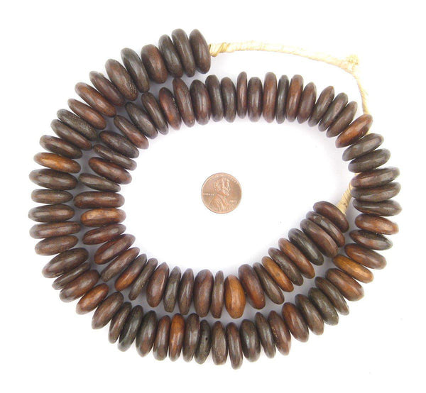 Brown Kenya Bone Beads (Disk)