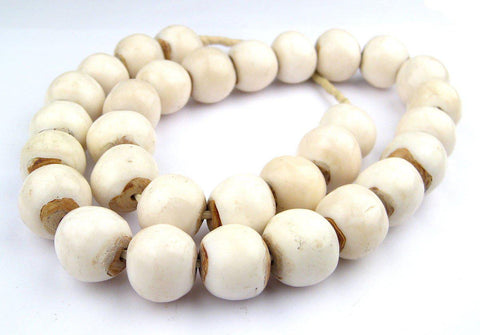 White Bone Beads (Sphere) - The Bead Chest