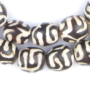 Traditional Batik Bone Beads (Sphere) - The Bead Chest