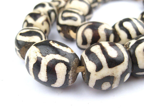 Image of Traditional Batik Bone Beads (Sphere) - The Bead Chest
