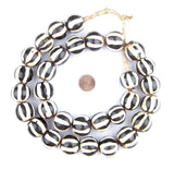 Zebra Batik Bone Beads (Sphere)