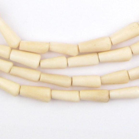 Kenya White Bone Beads (Bamboo) - The Bead Chest