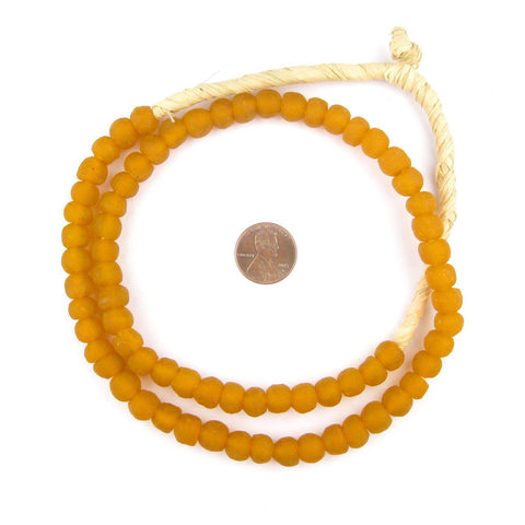 Tangerine Orange Recycled Glass Beads (9mm) - The Bead Chest